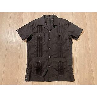 1piu1uguale3 - 【新品同様】1piu1uguale3 キューバシャツ 黒 Ⅴ