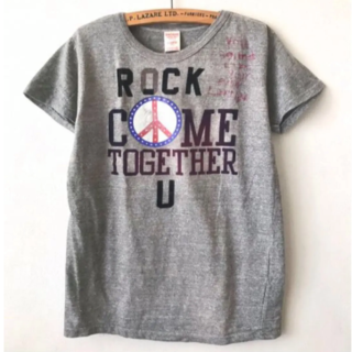 DENIM DUNGAREE - 新品 デニム&ダンガリー 半袖Tシャツ 160 ピース テンジク 天竺 グレー