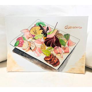 シャルキュトリー 肉の盛り合わせ(絵画/タペストリー)