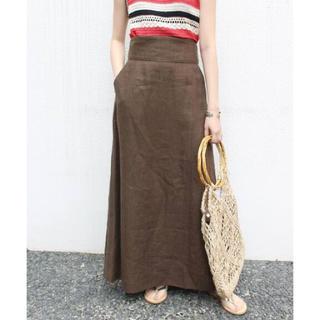 IENA SLOBE - SLOBE IENA  リネンハイウエストタイトスカート