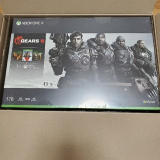 エックスボックス(Xbox)のXBOX ONE X Gears同梱版(家庭用ゲーム機本体)