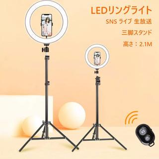 LEDリングライト 外径12 inch 撮影用ライト USB給電 自撮り(自撮り棒)