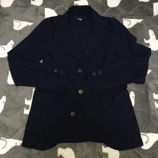 コムデギャルソンオムプリュス(COMME des GARCONS HOMME PLUS)のコムデギャルソンシャツ ジャケット/Aライン/ポリ縮/ネイビー(テーラードジャケット)
