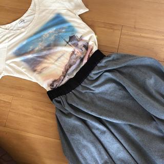 CLEF DE SOL - CLEF DE SOL フレアスカート +おまけTシャツ