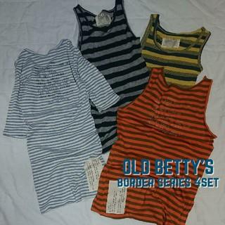 オールドベティーズ(OLD BETTY'S)のオールドべティーズ OLD BETTY'S ボーダー柄トップス 4点セット!!(Tシャツ(半袖/袖なし))