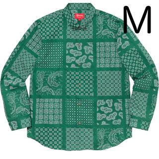 Supreme - paisley grid shirt supreme