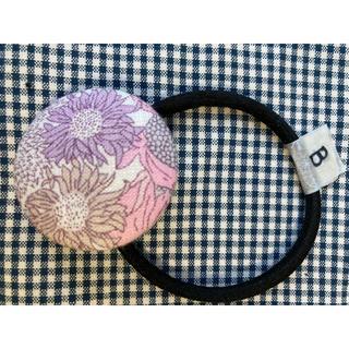 【B】くるみボタン ヘアゴム  38mm リバティ  スモールスザンナ ピンク系