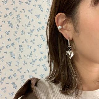 ジュエティ(jouetie)の再∞販 silver heart hoop pierce(ピアス)