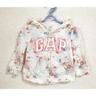 babyGAP - Baby  GAP くま耳 花柄 パーカー