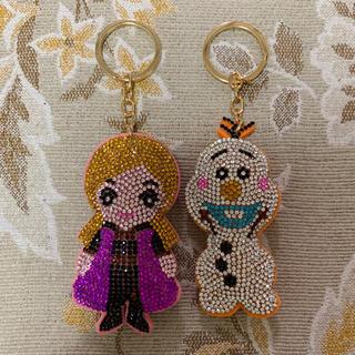 ディズニー(Disney)のキラキラキーホルダー アナと雪の女王(キーホルダー)