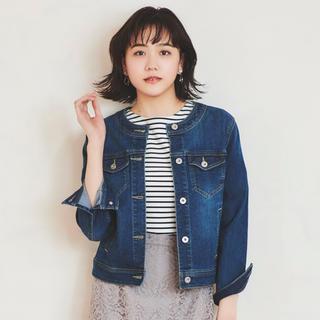 anySiS - 値下 新品★anysis ホルダージャージーライク デニムジャケット★3