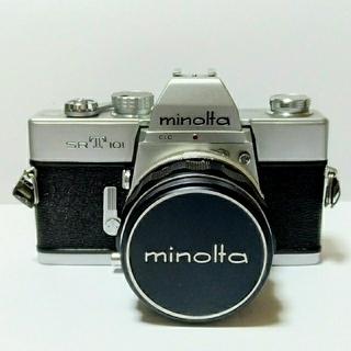 コニカミノルタ(KONICA MINOLTA)のMINOLTA SR-T 101 フィルム一眼レフカメラ + レンズ付き(フィルムカメラ)