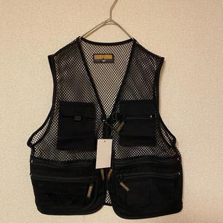 新品 ブラック harness ハーネス ミリタリーベスト フィッシングベスト(ベスト)