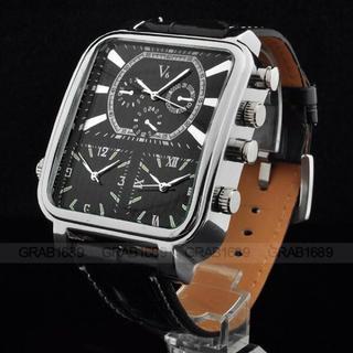 日本未入荷⚡️新品⚡️V6メンズ腕時計!ディーゼル、D&G、アルマーニファン必見(レザーベルト)