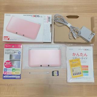 ニンテンドー3DS(ニンテンドー3DS)の美品 NINTENDO 3DS LL ピンク 本体(携帯用ゲーム機本体)