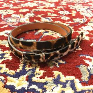 "JOHN LAWRENCE SULLIVAN - made in France ""HARAKO"" leopard belt"