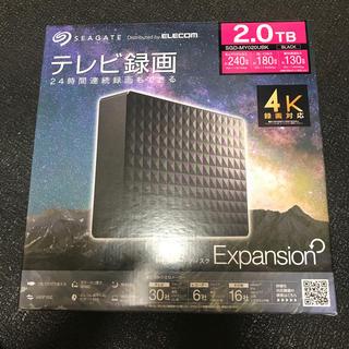 エクスパンション(EXPANSION)のエレコム 外付けハードディスク SGD-MY020UBK 2tb(PC周辺機器)