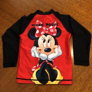 ディズニー(Disney)のDisney baby ミニーちゃん ラッシュガード 90 レッド ブラック(水着)