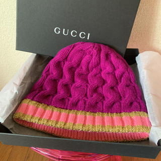 グッチ(Gucci)のGUCCI ニット帽子 新品未使用 グッチ 箱入り(ニット帽/ビーニー)