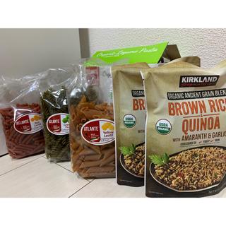 コストコ(コストコ)の有機豆パスタ250g3種類とブラウンライスアンドキヌア240g×2(その他)