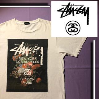 STUSSY - 【完売品‼️】 stussy s/s tシャツ 花 花柄 総柄