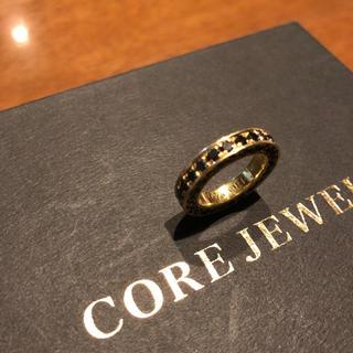 コアジュエルス(CORE JEWELS)のコアジュエルス k18  ブラックダイヤ リング トップ(リング(指輪))
