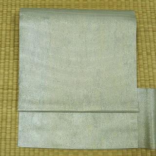 夏用 淡い水色に金糸織り 名古屋帯(帯)