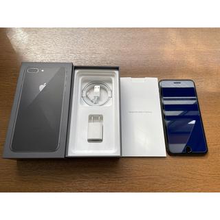 アイフォーン(iPhone)のIPHONE 8 PLUS ブラック SIMフリー 256GB(スマートフォン本体)