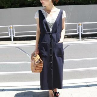 IENA - イエナ 前ボタンジャンパースカート