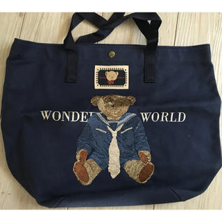 カネコイサオ(KANEKO ISAO)のワンダフルワールド 金子功 セーラークマ刺繍トートバッグ(トートバッグ)