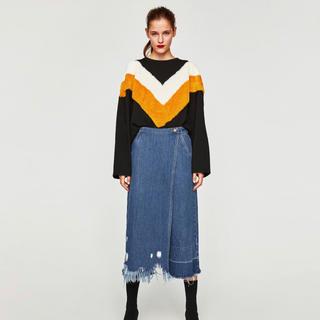 ザラ(ZARA)のZARA デニムスカート 34 美品(デニム/ジーンズ)