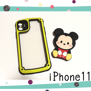 ディズニー(Disney)のiPhone11 ミッキーマウス ミニーマウス iPhoneケース (iPhoneケース)