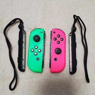 ニンテンドースイッチ(Nintendo Switch)のSwitch JOY-CON ジャンク グリーン ピンク スプラセット(その他)