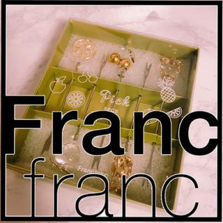 フランフラン(Francfranc)の新品 Francfranc フランフラン フリュイピック フルーツ 5本セット(カトラリー/箸)