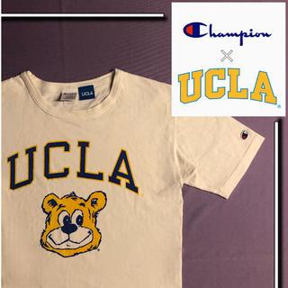 Champion - 【状態良品✨】 champion × ucla s/s tシャツ ベア クマ 熊