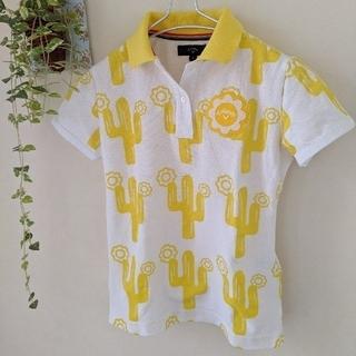 キャロウェイ(Callaway)のCallaway キャロウェイ 黄色柄 レディースポロシャツ(ポロシャツ)