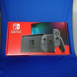 ニンテンドウ(任天堂)の新品未開封 Nintendo Switch 本体 新型 グレー(家庭用ゲーム機本体)