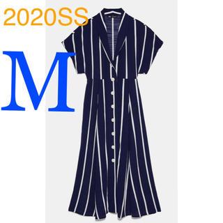 ザラ(ZARA)の*2020SS*ZARA ストライプ シャツワンピース(ロングワンピース/マキシワンピース)