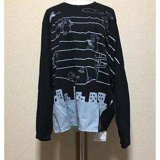 スカラー(ScoLar)のscolar parity 電線 アシメ ロングスリーブ Tシャツ 未使用(Tシャツ(長袖/七分))