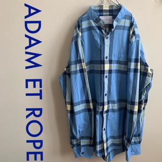 Adam et Rope' - ADAM ET ROPE 18SS マオカラーコットンチェックシャツ