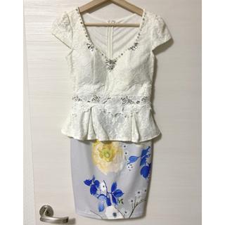 キャバドレス ペプラムドレス(ミニドレス)