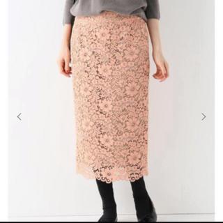 イエナ(IENA)の新品イエナIENA デイジーレースタイトスカート ピンク(ひざ丈スカート)