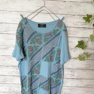 カバンドズッカ(CABANE de ZUCCa)のzucca  柄 Tシャツ バックプリント バラ(Tシャツ/カットソー(半袖/袖なし))