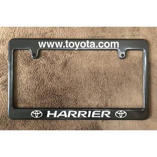 【2枚セット】ハリアー ナンバーフレーム  ライセンス トヨタ TOYOTA(車外アクセサリ)