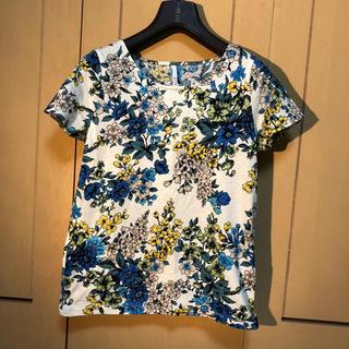 エル(ELLE)のELLE 花柄半袖Tシャツ(Tシャツ(半袖/袖なし))