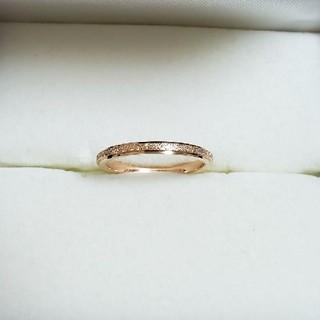 チタンステンレス製ピンクゴールド細リング(リング(指輪))
