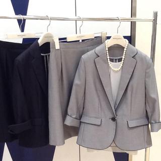 スーツカンパニー(THE SUIT COMPANY)の【セットアップ】 スカートスーツ  八分丈ジャケット ワイシャツ付き(スーツ)
