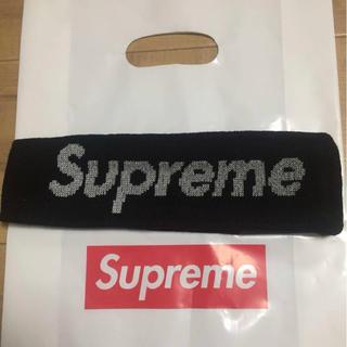 シュプリーム(Supreme)の【新品】Supreme headband New Era Black ヘアバンド(ニット帽/ビーニー)