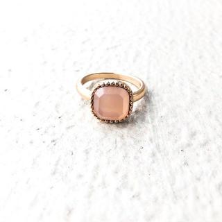 Ameri VINTAGE - ruby pink red ring* ルビーピンクレッドリング