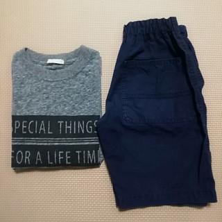 グローバルワーク(GLOBAL WORK)の2枚セット✨GLOBALWORK  ハーフパンツ ✨GU Tシャツ (Tシャツ/カットソー)